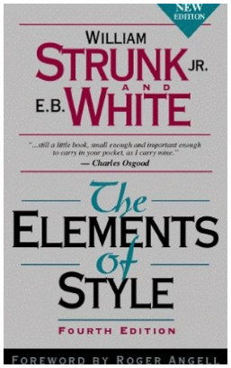 ElementsofStyle by William Strunk Jr. and E.B. White via Amazon.com