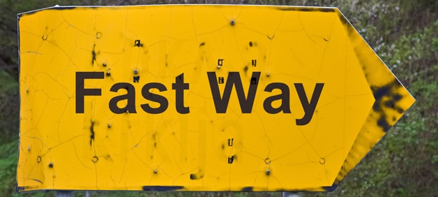 TESU blog yellow text fast way sign