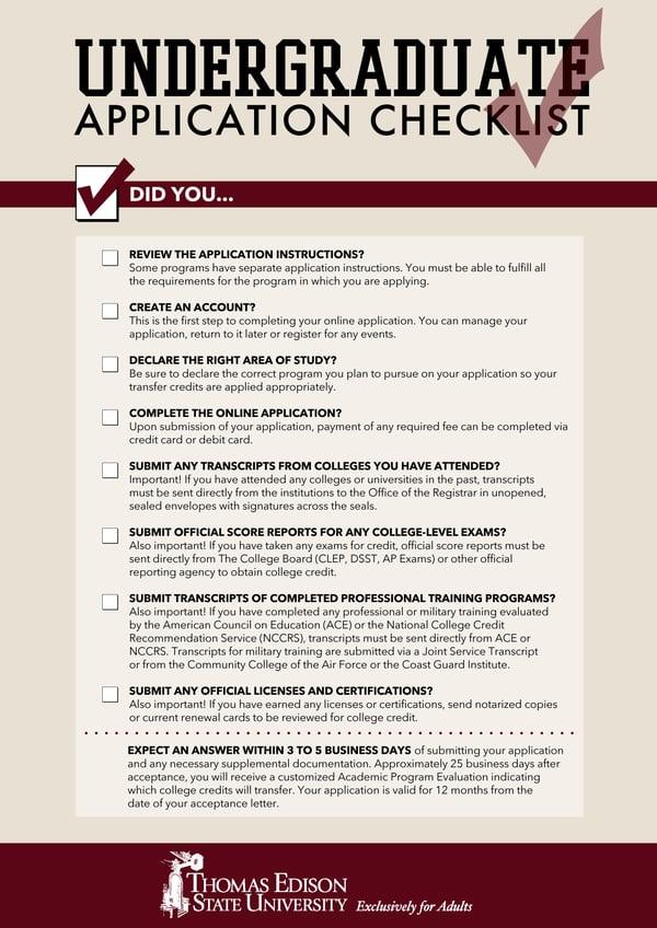 Thomas_Edison_State_University_undergraduate_application_checklist