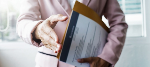 TESU blog_job interview and handshake