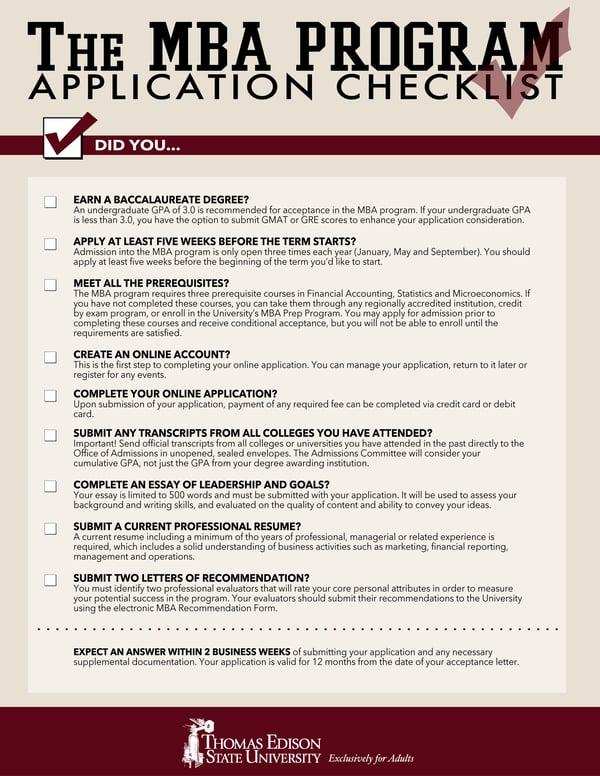 Thomas_Edison_State_University_mba_application_checklist