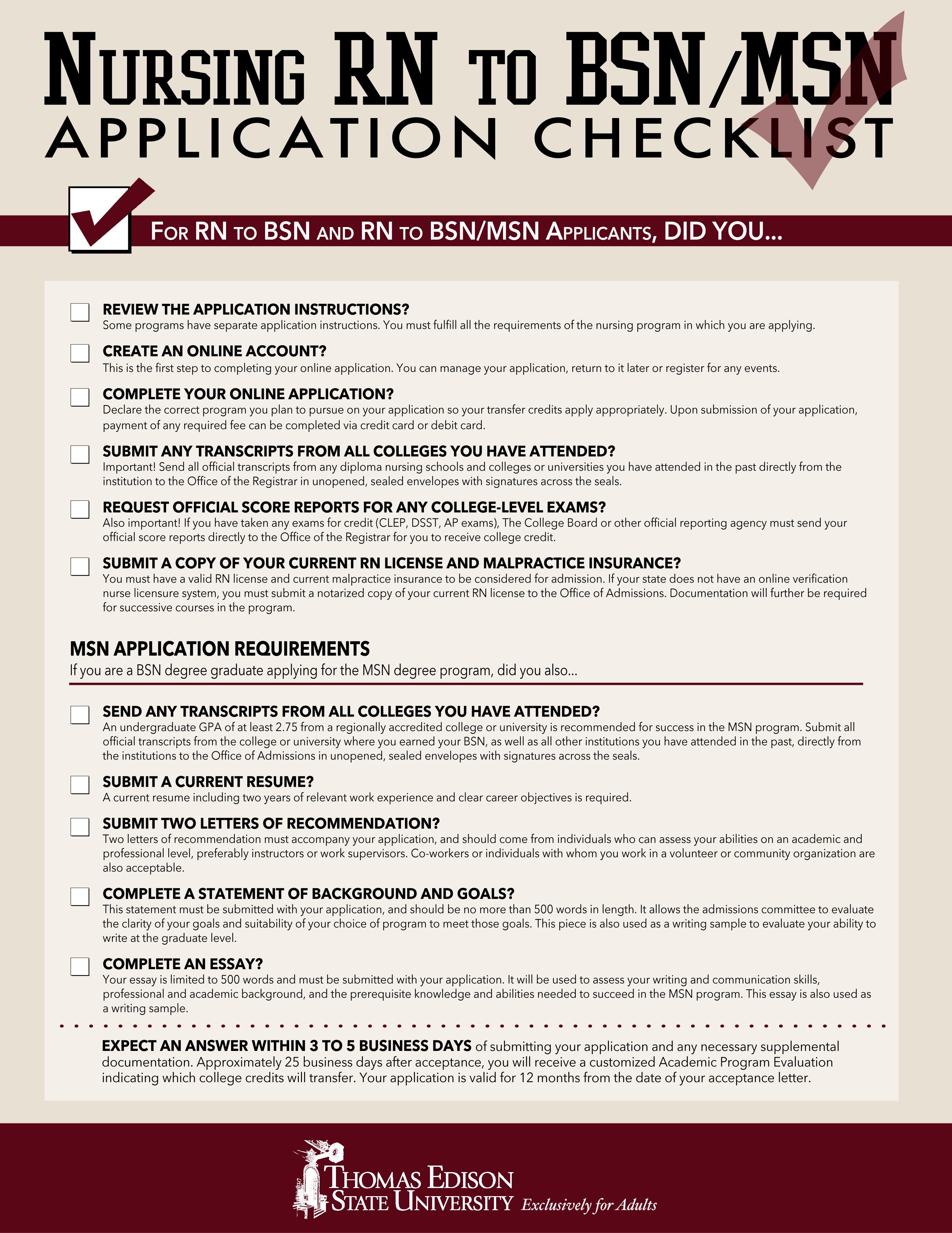 Thomas_Edison_State_University_RN_to_BSN_to_MSN_application_checklist